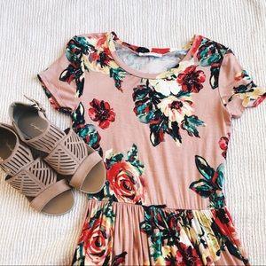 Dresses & Skirts - REB&J BOUTIQUE PINK FLORAL MAXI DRESS